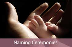 photo of baby's feet - links to naming ceremony page