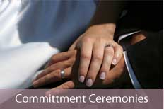 photo of couple holding hands - links to commitment ceremonies info